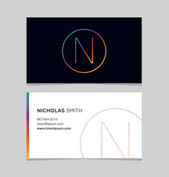 Business-card-letter-n vector