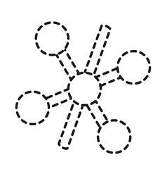 chemical molecule icon vector image