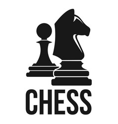 Chess horse pawn logo simple style vector