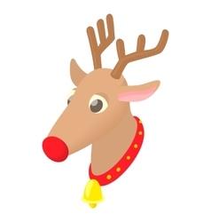 Christmas deer icon cartoon style vector image