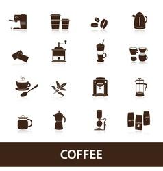coffee icons set eps10 vector image