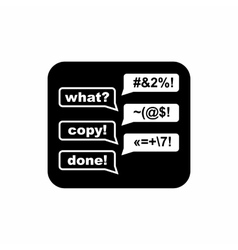 Consultation online icon simple style vector image