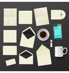 Corporate identity templates vector