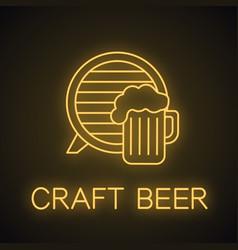 craft beer pub neon light icon vector image