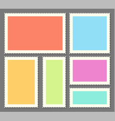Creative of blank postage vector