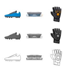 design soccer and gear symbol set of vector image