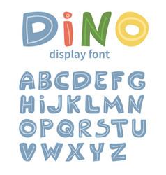 dino alphabet vector image