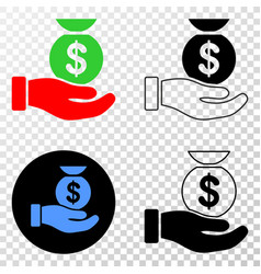 Financial service hand eps icon with vector