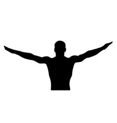 Floor exercise male gymnast vector