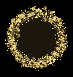 gold stars and glitter background vector image