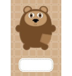 hand drawn bear vector image