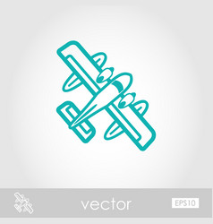 Hydroplane outline icon summer vacation vector