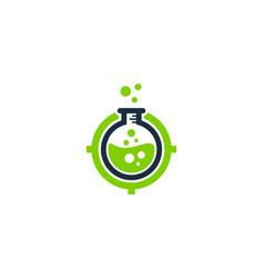Lab target logo icon design vector