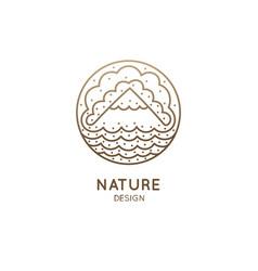 Logo mountain landscape vector