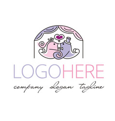 Logotype about weddings and love vector