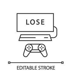 Losing game linear icon vector