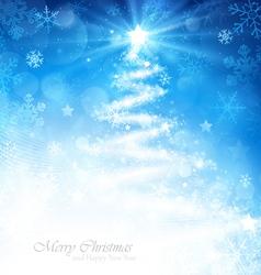 Magic Christmas tree vector image
