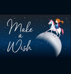 make a wish scene vector image