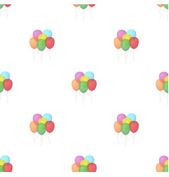 Multicolored inable ballsparty and parties single vector