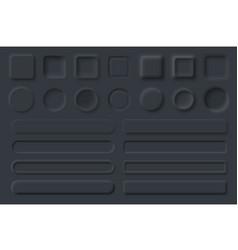 neumorphic ui ux black user interface elements vector image