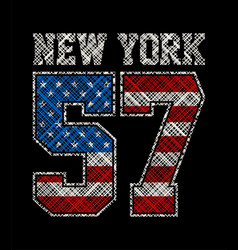 new york number 57 vector image