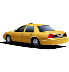 New york yellow taxi cab vector