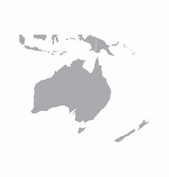 oceania gray map vector image