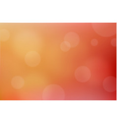 orange abstract bokeh background vector image