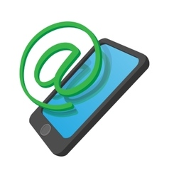 Phone internet connection cartoon icon vector image