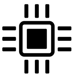 processor flat icon vector image