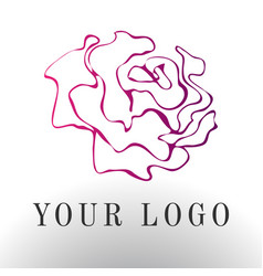 Red rose logo - emblem design vector
