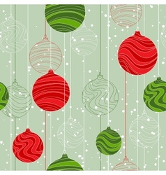 Retro elements for design Christmas balls seamless vector image