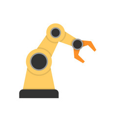 Robotic arm flat icon vector