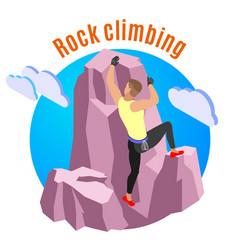 rock climbing composition vector image