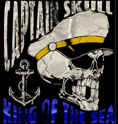 sailor skull t shirt graphic design vector image