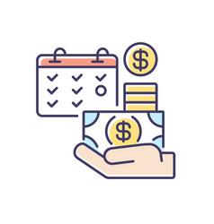 Salary rgb color icon vector
