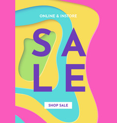 sale banner fashion bright colorful template vector image