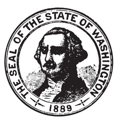 Seal of the state of washington 1913 vintage vector
