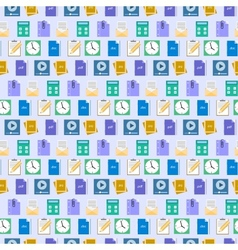 Seamless flat web icons and simbols pattern vector image vector image