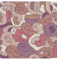 Seamless tangled pattern in colors vector image