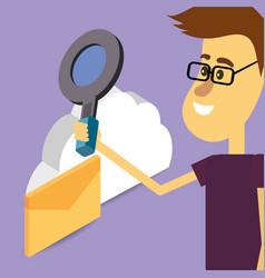 search engine cartoon vector image