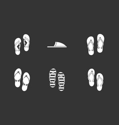 slippers icon set grey vector image