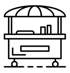 Street food cart icon outline style vector
