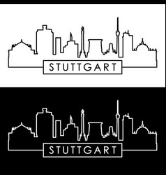 stuttgart skyline linear style editable file vector image