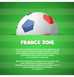 Themed with football ball and field vector image