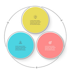 Three steps infographics with arrows vector image