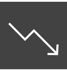 Trending Down vector image vector image
