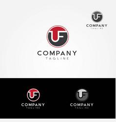 uf letters logo symbol icon vector image