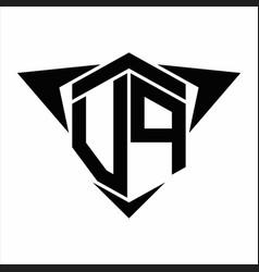 Vp logo monogram with wings arrow around design vector