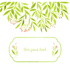 Watercolor spring leaves vector